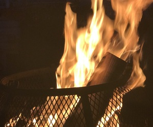 camp, fire, and Hot image