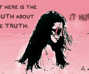 lies, pink, and true image