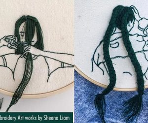 art, embroidery art, and drawings image
