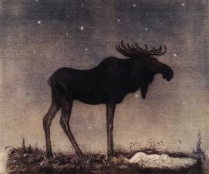 elk, fairytale, and folk image