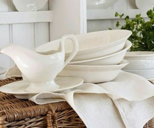 dishes, home decor, and country style image
