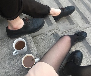 aesthetic, black coffee, and legs image