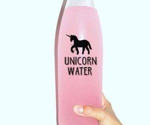 pink, pink water, and unicorn image