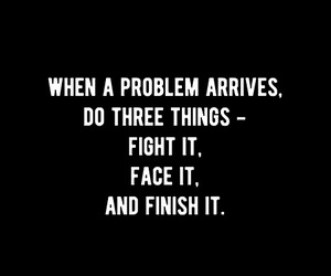 face, fight, and problems image