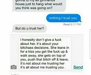trust, bitch, and true image