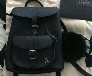 backpack, style, and black image