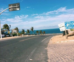 beach, road, and summer image