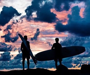 summer, surf, and sky image