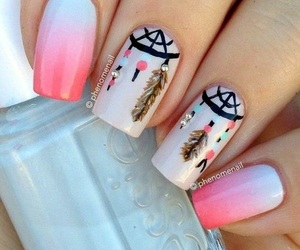 art, pink, and essie image