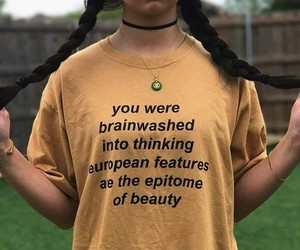 beauty, feminist, and shirt image