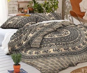 mandala duvet cover, mandala bedding set, and indian quilt cover image