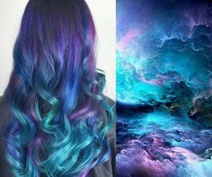follow, galaxy, and hair image