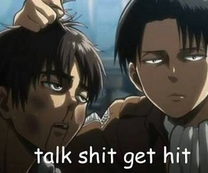 aot, levi, and eren image