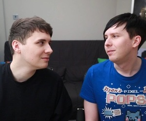 dan howell, phil lester, and phan image