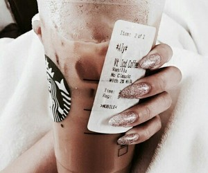 brown, drink, and nails image