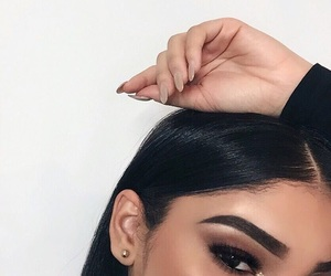 beautiful, eyeshadow, and hairstyles image