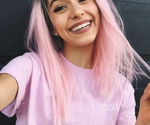 beauty, pink hair, and smile image