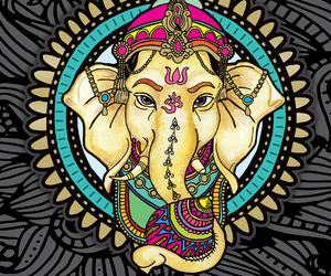 art, elephant, and Ganesha image