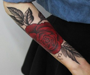 black, red, and rose image