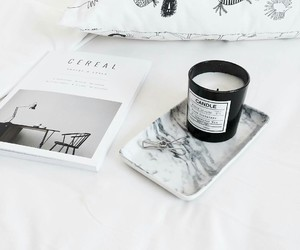 candle, interior, and marble image