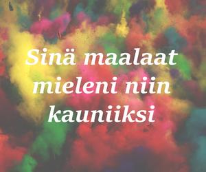 finnish, sanoja, and Lyrics image