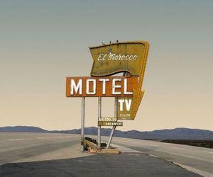 motel, 90s, and desert image
