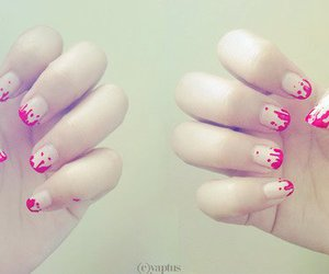 girl, hands, and nail art image