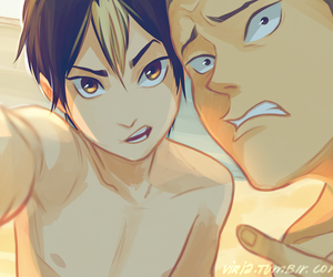 beach, tanaka, and haikyuu!! image