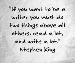 read, write, and Stephen King image
