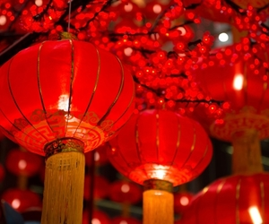lanterns and red image
