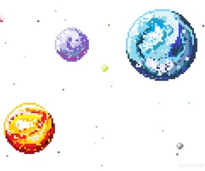 overlay, planets, and space image