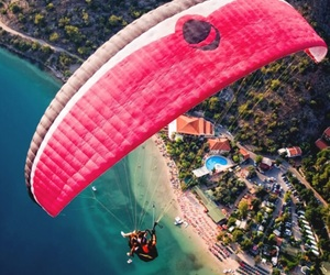 summer, beach, and parachute image