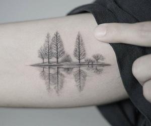 tattoo, nature, and tree image