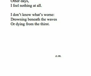 quotes, sad, and drowning image