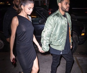 couple, selena gomez, and the weeknd image