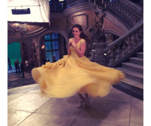 actress, belle, and beauty and the beast image