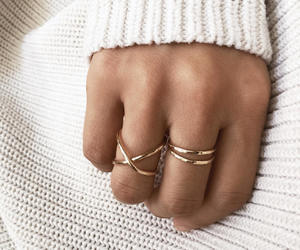 etsy, silver ring, and statement ring image