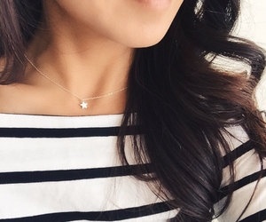 etsy, sterling silver, and dainty necklace image