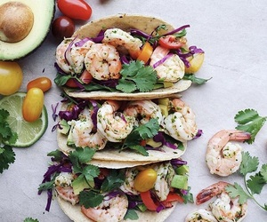 avocado, peppers, and shrimp image