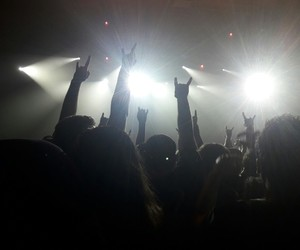 concert, metal, and music image
