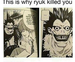 anime, death note, and funny image