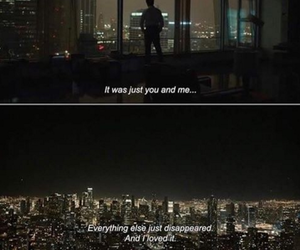 city lights, man, and quote image