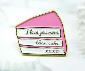 cake, love you, and phrases image