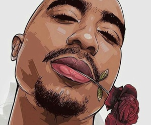 2pac, art, and hip hop image