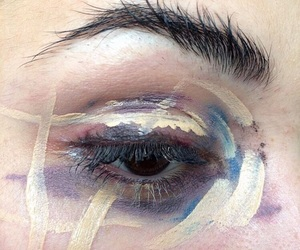 eyes and paint image
