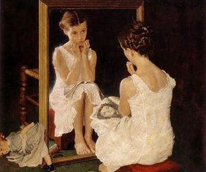 girl, Norman Rockwell, and art image