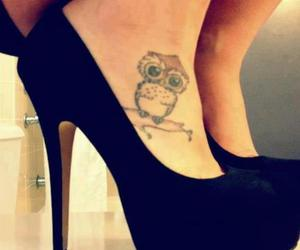 shoes, tattoo, and owl image