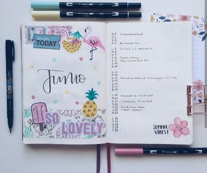 homework, planner, and stationary image