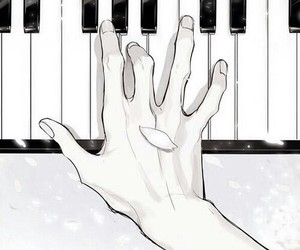 art, inspiration, and piano image