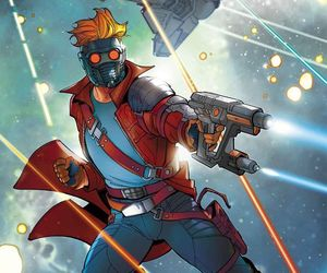 art, peter quill, and comic image